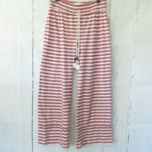 Anthropologie Pajama Pants Stripe Ankle Crop